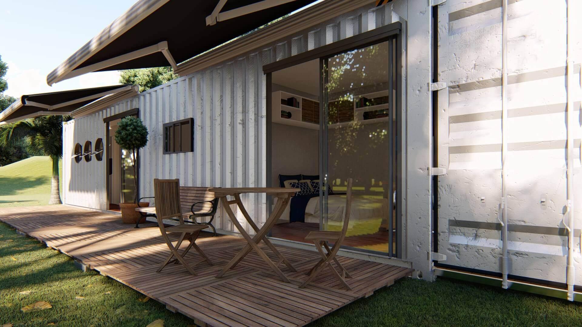 Venda de Casa Container 12 metros - Venda de Casa Container 40 PÉS