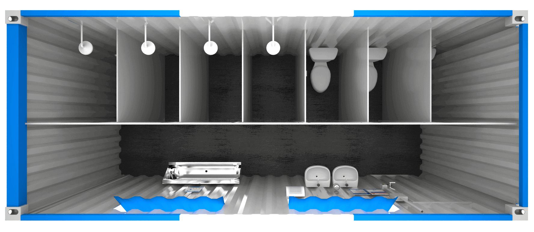 Venda de Container Banheiro Coletivo