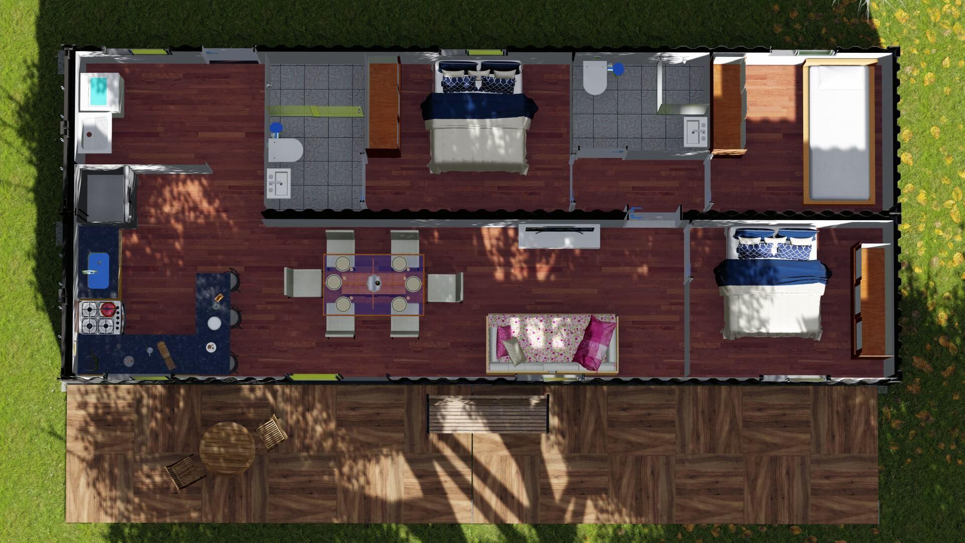 Casa Container 40 PÉS planta baixa